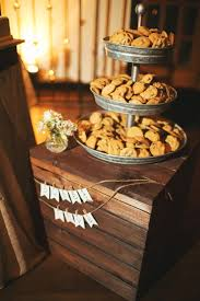 Cookie Display Stand brides mom's chocolate chip cookies PB tiered stand wedding 6