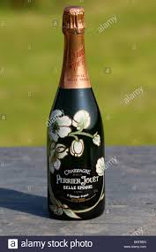 Hand Decorated Champagne Bottles Hand painted decorated bottle of Perrier Jouet Vintage Champagne 1