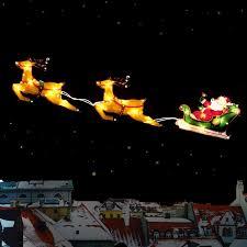 Xmas Christmas Window Silhouette Light Up Santa Sleigh With Reindeer  Decoration