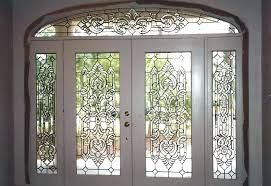 beveled glass door inserts leaded front doors exterior entry beveled glass door