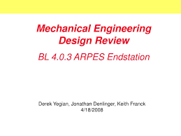 Mechanical Design Ppt Ppt Mechanical Engineering Design Review Powerpoint