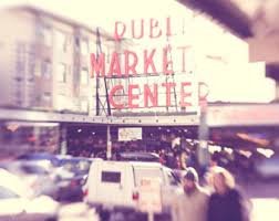 Small Picture Seattle photography Pike Place Market Elliott Bay photo of