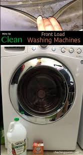 how to clean your washing machine with vinegar and baking soda front loader