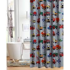 bathroom decor for boys only at walmart mainstays kids transportation shower curtain