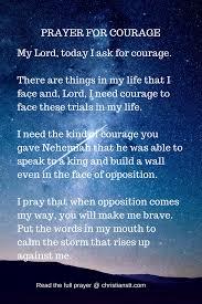 Prayer For Courage Daily Prayer Prayer For Courage God Prayer