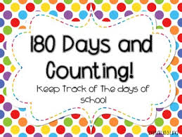 180 Days Of School Chart 180 Days And Counting Primary Edition
