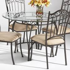 round glass kitchen table. Wrought Iron Round Glass Dining Table Kitchen L