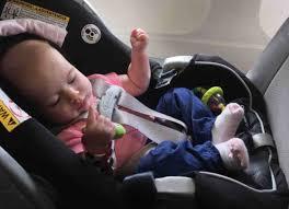 baby sleeping on the plane