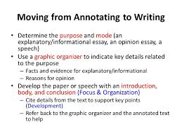 writing on the road to parcc grades ppt  21 moving