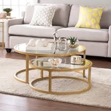 Fancy coffee tables Rustic Silver Orchid Grant Glam Nesting Cocktail Table 2piece Set Overstock Buy Glass Coffee Tables Online At Overstockcom Our Best Living