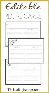 Christmas Recipe Cards Template Pink And Gray Icons General Recipe Card Customize Recipe