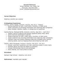 cashier skills and abilities cashier resume recentresumescom fast food cashier resume