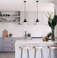 white tile kitchen backsplash. Modren Kitchen Kitchen Gray Kitchen Cabinets With White Tile Backsplash Sfgirlbybay  Cabinets In O