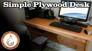 Make Your Own Computer Desk Make A Computer Desk With A Single Sheet Of Plywood Youtube