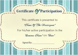 Templates For Certificates 12 Ready To Use Sample Certificate Templates Of