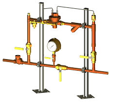 Nitrogen Gas Piping Design Single And Dual Pressure Temperature Control Manifolds Ptcm