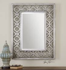 Silver Leaf Decoration Antique Silver Leaf With Black Undertones And Antique Mirrors Wall