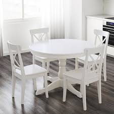 white extendable table ingatorp on ikea dining room table sets
