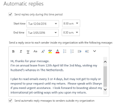 Automatic Respond Notifying Others That You Are Out Of The Office Excel At Work