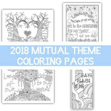 Package Of All Four 2018 Mutual Theme Coloring Pages 85x11