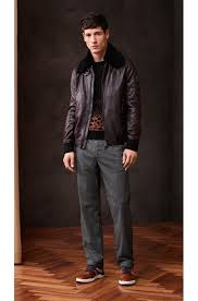 hugo boss dark brown slim fit aviator jacket in new zealand leather style jarco1 50375214