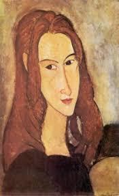 Jeanne Hèbuterne, 1918 , A. Modigliani. Dal loro legame, che pure fu movimentato e tempestoso (numerosi sono gli aneddoti sui maltrattamenti inflitti dal ... - jeanne%2520hebuterne,1918