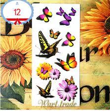 3d Tetování Motýl 12