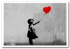 banksy love heart balloon grey prints posters on banksy wall art prints with love heart balloon grey banksy framed art giclee art print