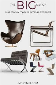 famous modern furniture designers. Famous Mid Century Modern Furniture Designers Design Ideas E