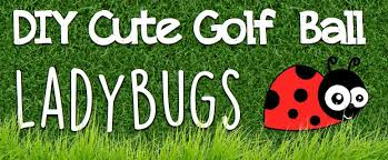 Golf Ball Decorations DIY Cute Golf Ball Ladybugs Do it yourself ideas and projects 55