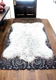 gray faux fur rug area rugs sheepskin white