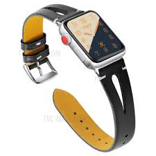 hollow genuine leather watch band for apple watch series 4 44mm series 3 2