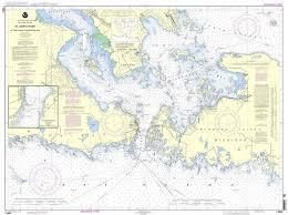 Noaa Nautical Chart 14882 St Mars River Detour Passage