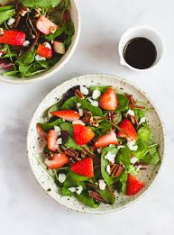 simple mixed green salad. Brilliant Simple Strawberry And Mixed Green Salad To Simple T