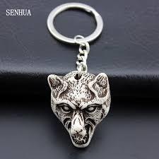 Boy Men Women's Jewelry <b>Cool Wolf</b> Keyrings Imitation Yak Bone ...