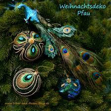 Weihnachtsdeko Pfau Märchenhafte Deko