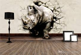 Cool 3d Large View Rhino Kung Fu Panda Elephant Lion Dolphin Wall Stickers  Art Mural Decal Cartoon Wallpaper Bedroom Hallway Children Home Bollywood  Actress ...