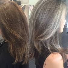 amusing highlights and lowlights for gray hair inspired for your hair color