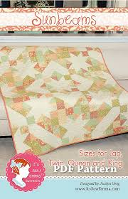 Sunbeams Downloadable PDF Quilt Pattern Jocelyn Ueng for It's Sew ... & Hover to zoom Adamdwight.com