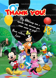 Mickey Mouse Clubhouse 2nd Birthday Invitations Mickey Invitation Mickey Mouse Clubhouse Party Toodles