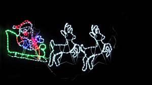 Reindeer Silhouette Lights Rope Light Silhouettes Led Santa Sleigh Reindeers 2 5m