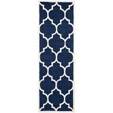 safavieh ham dark blue contemporary rug runner 2 3