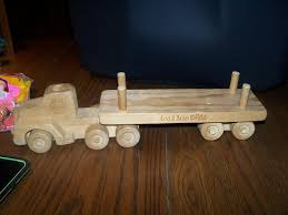 details about wooden logging truck toy oregon wooden toy co american loggers council