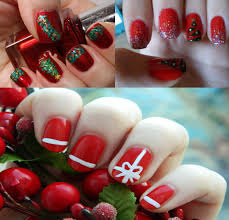 Cool Christmas Nail Designs: Cute chic unique new year holiday ...