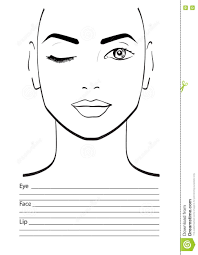 face chart makeup artist blank template vector ilration stock ilration 133511246 i won t play maccers face charts