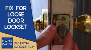 How To how to fix a door knob latch pics : Door handle lockset jiggles | How to tighten door knob - YouTube