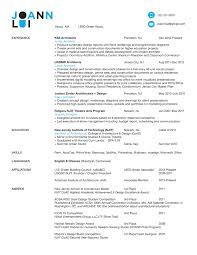 Architectural Resume Examples 69 Images Architect Resume