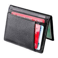 Designer Bus Pass Holder Compact Bi Fold Leather Driver Licence Holder Card Holder