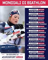 Live da hochfilzen per la staffetta biathlon: Mondiali Biathlon 2020 In Tv E Streaming Su Eurosport E Rai Sport Sportinmedia