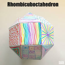 have fun making and decorating your own 3d rhombicuboctahedron for a fun decoration like teach beside me demonstrates
